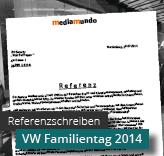 Referenzschreiben VW Familientag 2014