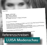 Referenzschreiben Modenschau mit LUISA